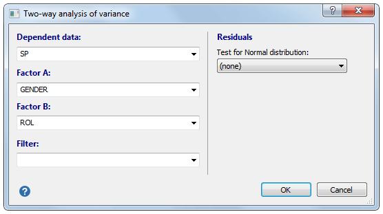 双向方差分析-对话框
