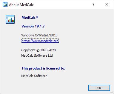关于MedCalc