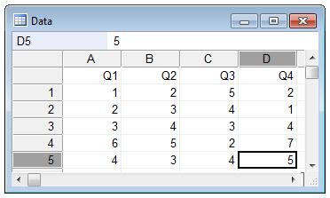 克朗巴赫(Cronbach)的Alpha-如何输入数据
