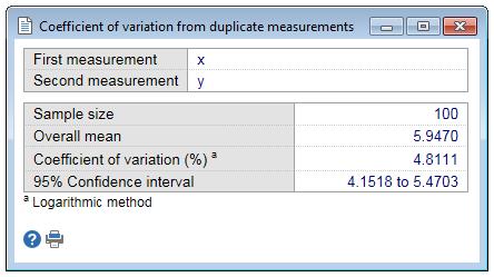 重复测量产生的变异系数-结果