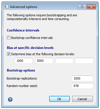 Passing-Bablok回归引导程序选项