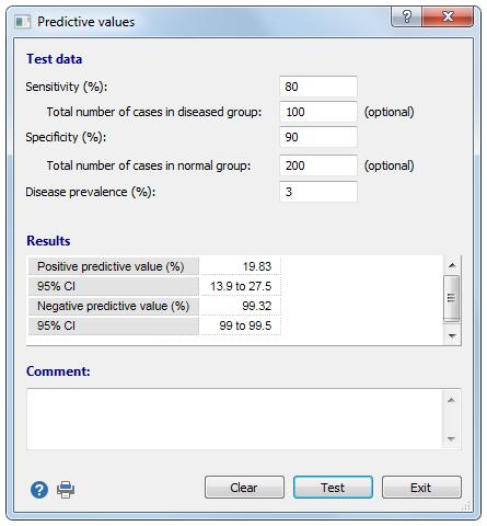 ROC曲线分析:预测值计算器