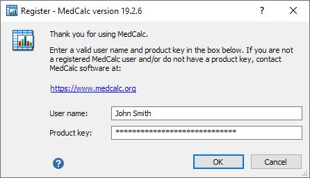 软件注册对话框。