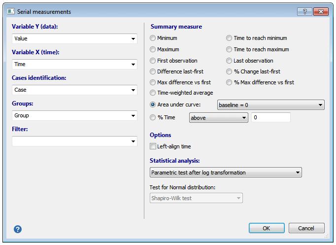 串行测量统计信息对话框